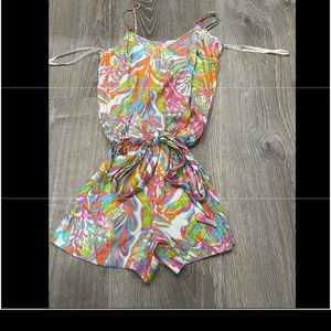 Lilly Pulitzer Deanna colorful Romper XS Neon